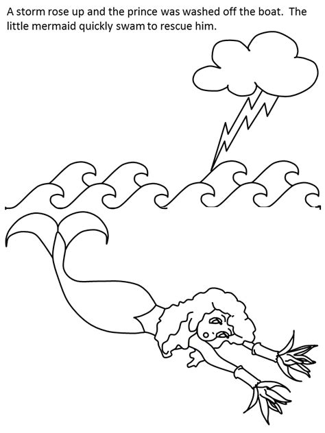 cartoon mermaid coloring coloring pages
