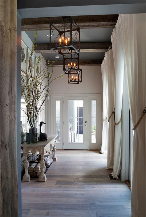 faux wood beams Hall Beach with antique wood beach house