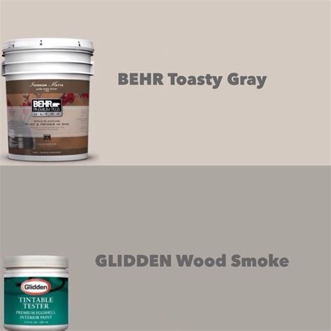 my neutrals behr toasty gray glidden wood smoke just in for the home
