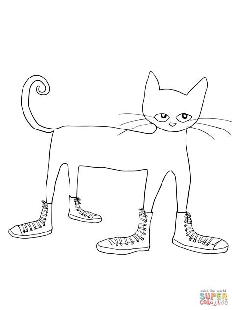 Pete The Cat Shoe Template by Pete The Cat I My White Shoes Coloring Page Free