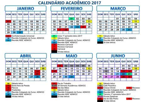 Calendario Academico Fachasul A Nossa Faculdade 187 Calend 225 Acad 234 Mico 2017