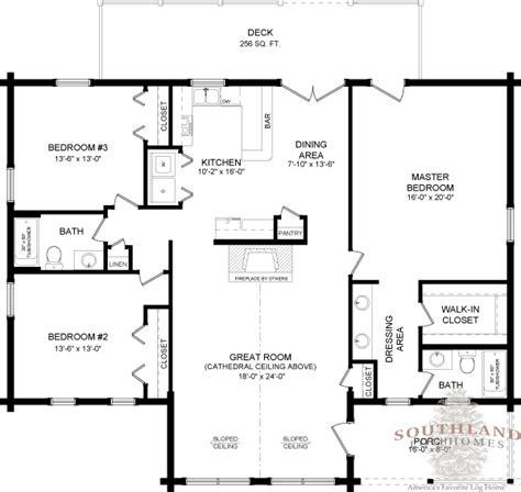 40x50 house plans southlandloghomes wateree i log home 1801 sq ft 40x50