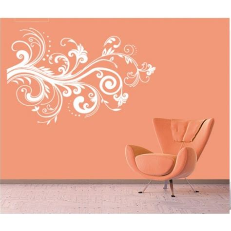 paisley wall stickers paisley flowers vinyl wall stickers vinyl wall