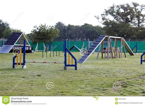 agility course for dogs agility course stock photo image 60073342