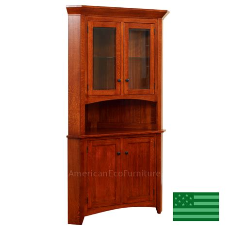 unfinished corner china cabinet vintage solid mahogany