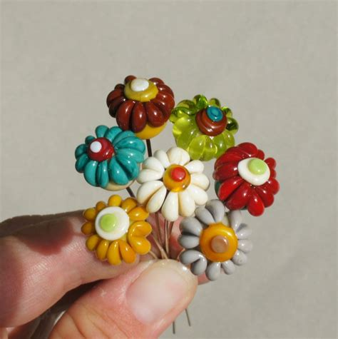 Handmade Glass Flowers - 212 best images about glass jewelry on
