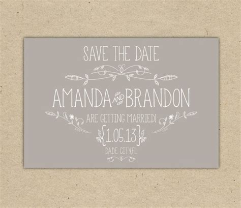 Save The Date Custom Printable Template Vintage 2054 Free Save The Date Templates For Email