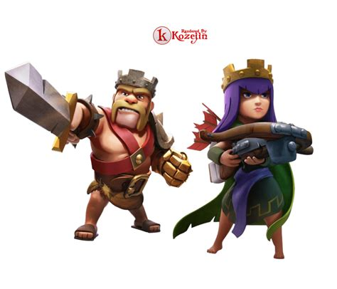 kaos clash of clans 09 barbarian and archer clash of clans characters barbarian www pixshark