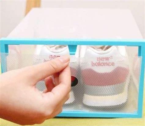 Rak Buku Plastik Bongkar Pasang kotak sepatu plastik bongkar pasang multi color
