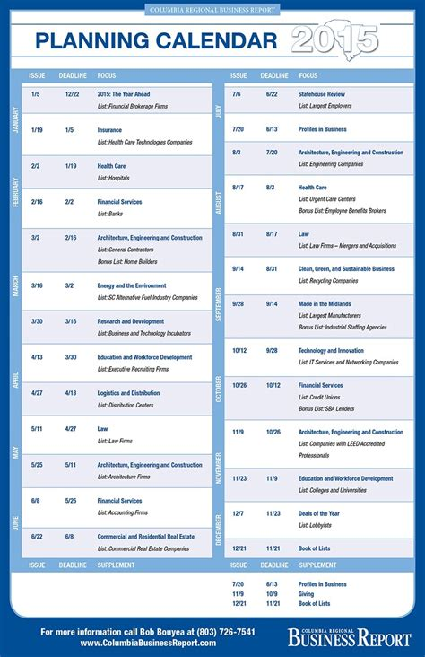 Columbia Mba Calendar by Columbia Regional Business Report Columbia Sc