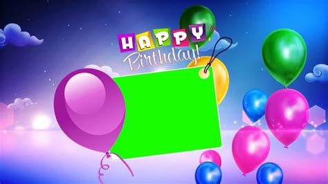 happy birthday wishes  green background video youtube