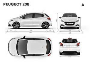 Peugeot 208 Dimensions Dimensions Ext 233 Rieures Mm Peugeot 208 Gt Line 5p 2015