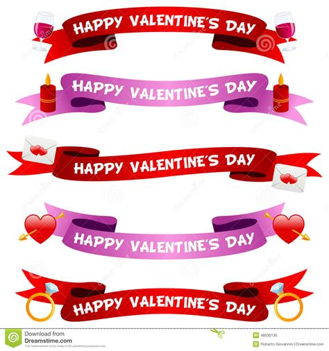valentines day cincinnati s day ribbons or banners set stock vector