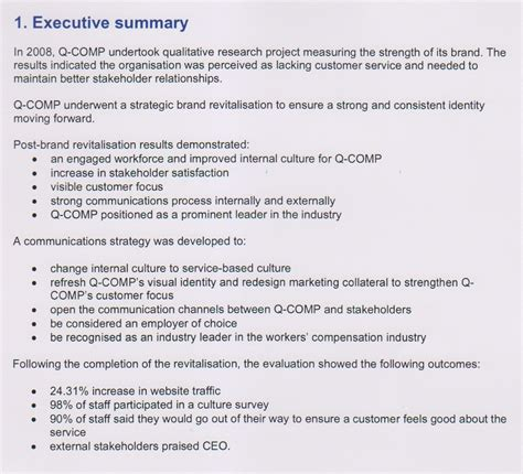 executive summary twelwe image