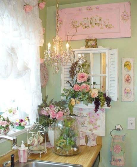 romantic kitchen romantic decor pinterest shabby cottage romantic pink green and white kitchens