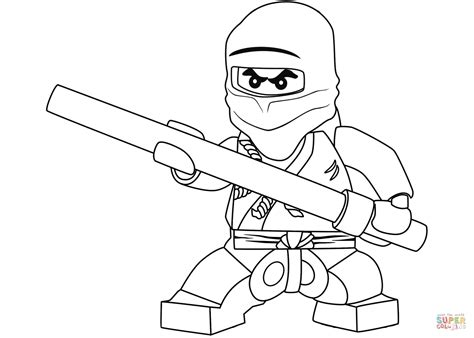 black ninja coloring pages lego ninjago cole the black ninja coloring page free