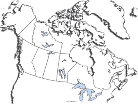 printable maps canada blank map of canada with lakes and rivers