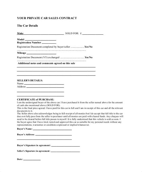 10 Sle Sales Contract Agreements Sle Templates As Is Sales Contract Template
