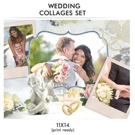 wedding collage set love story