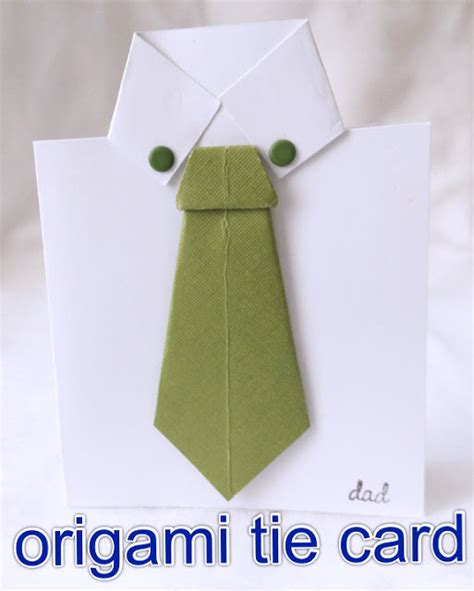 How To Make A Origami Card - g origami tie s day cards