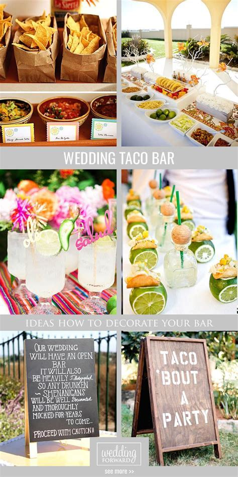 How To Decorate Wedding Taco Bar   Taco bar wedding, Taco