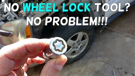 remove wheel locks   key tool youtube