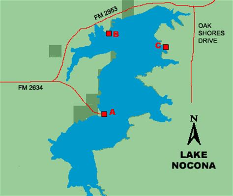 nocona texas map lake nocona access