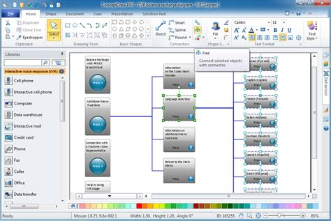 interactive diagram software interactive voice response diagrams solution conceptdraw