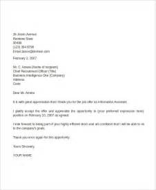 Thank You Letter For The Appointment 44 Appointment Letter Template Exles Free Premium Templates