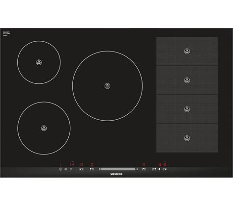 electric induction hobs uk buy siemens eh875mp17e electric induction hob black free delivery currys
