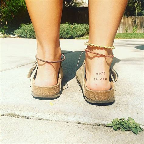 tattoo back heel quot more to come quot tattoo on sydney axelrod s right heel