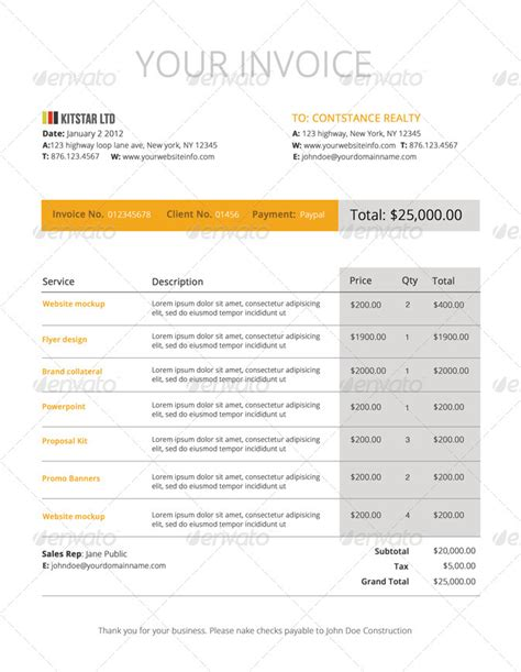 modern invoice template modern invoice template by designdistrict graphicriver