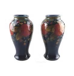 Moorcroft Pomegranate Vase Antiques Atlas Pair Of William Moorcroft Vases