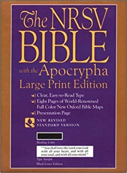 The New Revised Standard Version Bible Large Print