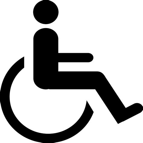 printable handicap sign clipart best