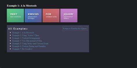 tutorial menu css jquery image gallery jquery navigation menu