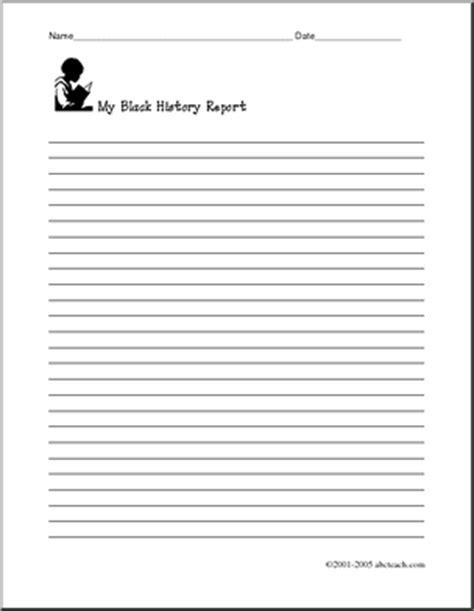 black writing paper writing paper black history abcteach