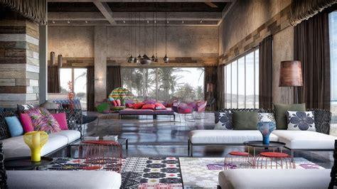 colorful exuberant interior design inspiration