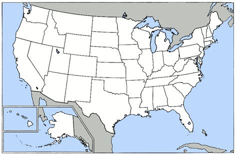 blank us map with great lakes blank map of great lakes