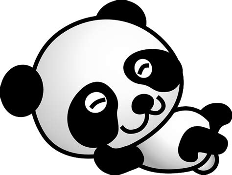 gambar kartun panda lucu clipart
