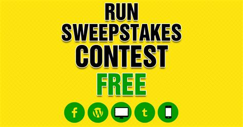 Free Facebook Sweepstakes App - create free sweepstakes facebook appliction