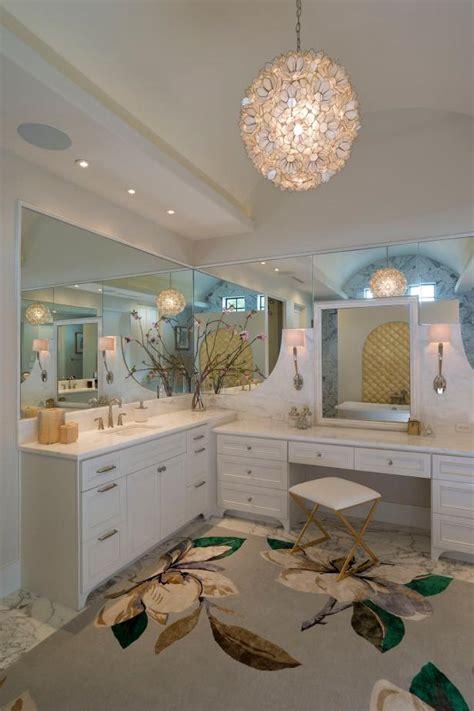 chic master bathroom  makeup vanity hgtv