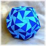 Exquisite Modular Origami - vortex dodecahedron