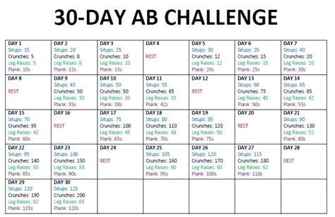 Printable 30 Day Calendar
