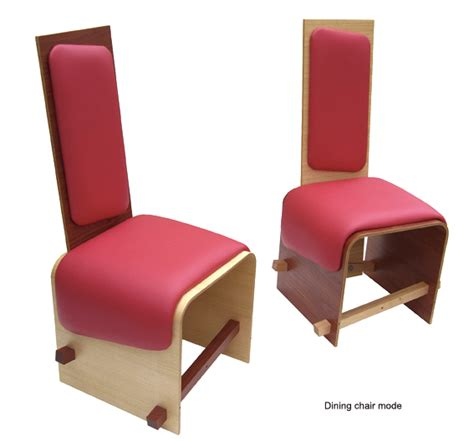 Ottoman That Turns Into A Chair Versatile Hybrid Chair Turns Into A Stool Bench Or Ottoman In A Snap Inhabitat Green