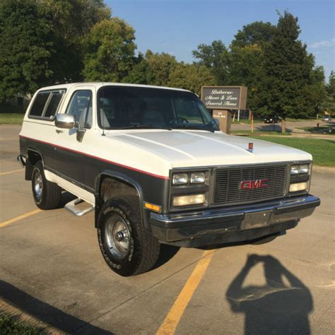 gmc jimmy 1989 1989 gmc jimmy excellent all stock drive it anywhere