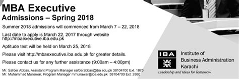 Executive Mba Admission 2018 by Iba Gt Gt Gt Mba Executive