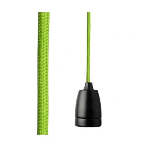 Nud Classic Pendant Light Nud Black Pendant Set With Green Cord Electricsandlighting Co Uk
