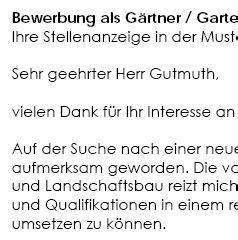 Bewerbungsschreiben Ausbildung Gärtner Bewerbungsschreiben Muster Bewerbungsschreiben G 228 Rtner