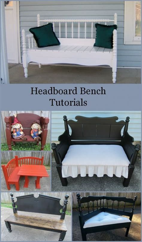 how to make a bench from a headboard how to make a headboard bench lots of headboards made into